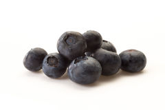 Blueberries on a white background. Some blueberries put on a white background Royalty Free Stock Images