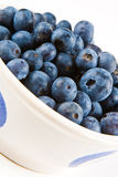 Blueberries in a white dish Royalty Free Stock Image