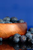 Blueberries in a wooden bowl Stock Photography