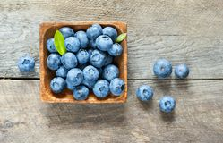 Blueberries on a wooden Royalty Free Stock Image