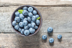 Blueberries on a wooden Stock Photography