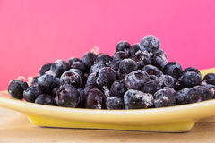 Blueberries. On a wooden table Stock Image