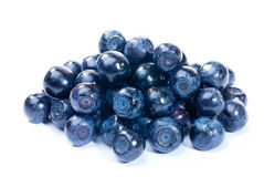 Blueberry. Organic blueberries isolated on white background Royalty Free Stock Images