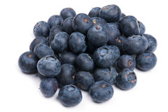 Blueberry. Object on white - fruit blueberry close up Royalty Free Stock Photos
