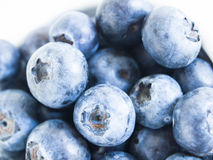 Blueberry. Fresh bluberries from local market on white background. Blueberries contain anthocyanins,  and various phytochemicals, which possibly have a role in Stock Photography