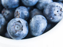 Blueberry. Fresh bluberries from local market on white background. Blueberries contain anthocyanins,  and various phytochemicals, which possibly have a role in Stock Photos