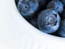 Blueberry. Fresh bluberries from local market on white background. Blueberries contain anthocyanins,  and various phytochemicals, which possibly have a role in Royalty Free Stock Photography