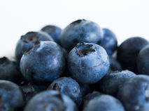 Blueberry. Fresh bluberries from local market on white background. Blueberries contain anthocyanins,  and various phytochemicals, which possibly have a role in Stock Image