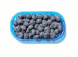 Blueberry. A basket of ripe blueberry Stock Images