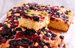 Blueberry And Raspberry Cake Royalty Free Stock Photo