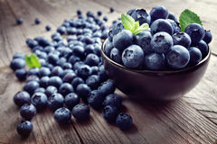 Blueberry antioxidant organic superfood Royalty Free Stock Photo