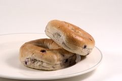 Blueberry Bagels Stock Photo