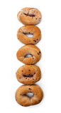 Blueberry Bagels Royalty Free Stock Photography
