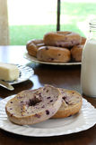 Blueberry Bagels Stock Images