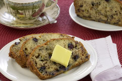 Blueberry banana bread Royalty Free Stock Photos