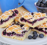 Blueberry Bars and Berries Royalty Free Stock Images