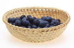 Blueberry in a basket Stock Photos