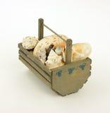 Blueberry Basket Shells Stock Photo