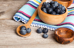 Blueberry berry on rustic wooden table Stock Photo