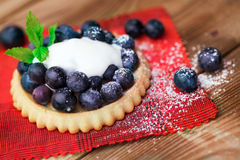 Blueberry  on a biscuit Royalty Free Stock Photography