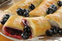 Blueberry blintzes closeup Stock Image