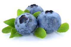 Blueberry blueberries berry berries fruit isolated on white Stock Photo