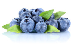 Blueberry blueberries fresh berry berries bilberry bilberries is Stock Photo
