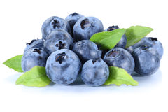 Blueberry blueberries fresh berry berries fruit isolated on whit Stock Photo