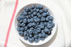Blueberry 6. Blueberries in plate on the tablecloth Stock Photography