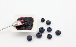 Blueberry and blueberry jam Stock Image