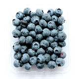 Blueberry (bog whortleberry, great bilberry) on white background Royalty Free Stock Photography