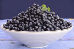 Blueberry bowl Stock Photos