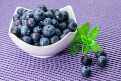 Blueberry in a bowl Royalty Free Stock Image