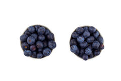 Blueberry in a bowl  on white background. Blueberry in a bowl on white background Royalty Free Stock Photography