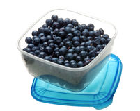 Blueberry in box Stock Photography
