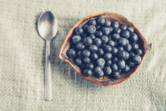 Blueberry breackfast in village Stock Photos