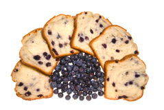 Blueberry bread and blueberries Stock Image