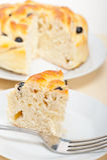 Blueberry bread cake dessert Stock Image