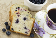 Blueberry Bread and Coffee Stock Photo