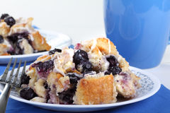 Blueberry Bread Pudding Royalty Free Stock Photos