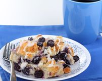 Blueberry Bread Pudding Royalty Free Stock Photo