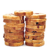 Blueberry bread rusks Stock Photo