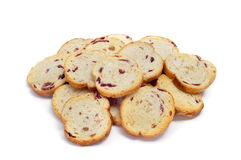 Blueberry bread rusks Stock Photography