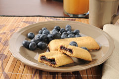 Blueberry breakfast bar Royalty Free Stock Photos