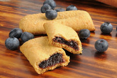 Blueberry breakfast bars Royalty Free Stock Photography