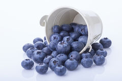 Blueberry in a bucket Royalty Free Stock Image