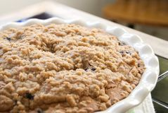 Blueberry Buckle Coffee Cake Royalty Free Stock Images