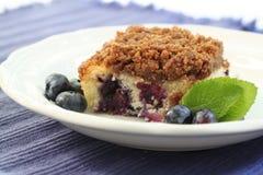 Blueberry buckle. Crumb cake Stock Photo