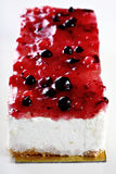 Blueberry cake. Blueberry cream cake with blueberry on top Stock Photo