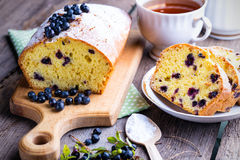 Blueberry cake Royalty Free Stock Photos